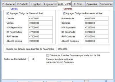 Configuración Cuentas Contables