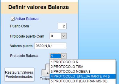 Balanzas COM