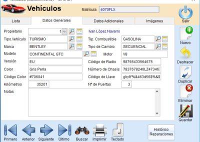 Datos de Vehículos